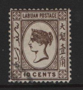 LABUAN, 36, USED, 1892, QUEEN VICTORIA