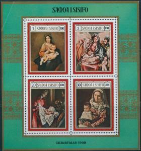 Samoa 1969 SG336 Christmas MS MNH