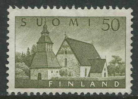 Finland - Scott 338 - Church of Lammi -1956- MNG - Single 50m Stamp