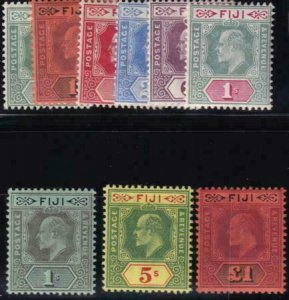 Fiji 1904-1912 SC 70-78 LH Set