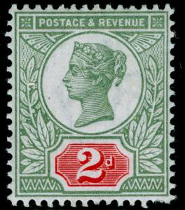 SG200, 2d grey-green & carmine, NH MINT. Cat £48.