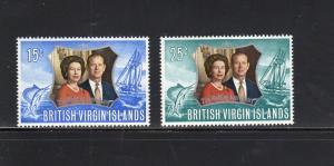 VIRGIN ISLANDS #241-242  1972  SILVER WEDDING ISSUE        MINT VF NH O.G