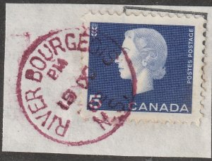 RIVER BOURGEOIS NS PM/19X/62 RED RICHMOND CTY CDS CANCEL