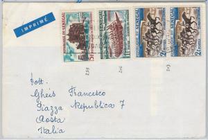 BOATS -  HORSE RACING -  POSTAL HISTORY - SENEGAL : Cover to ITALY 1965