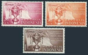 Indonesia 457-459 blocks/4,MNH.Mi 221-223. Victory in Thomas Badminton Cup,1958.