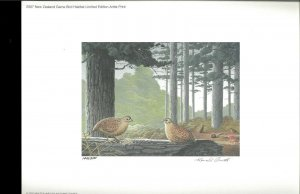 NEW ZEALAND 2007 DUCK STAMP PRINT Brown Quail by Ronald Cometti Reg $195