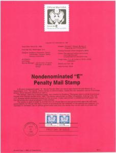 US #SP792 (O140) Official Mail USPS Souvenir Page