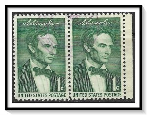 US #1113 Abraham Lincoln Pair Used