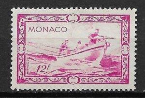 1949 Monaco 243 12f Prince Albert Whaling used