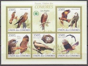 2009 Comoro Islands 2382-86KL Birds / Falcon 9,00 €