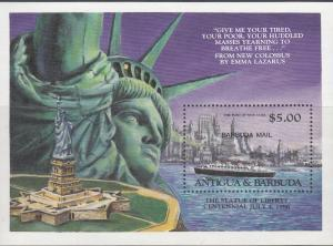 Antigua & Barbuda, Sc # 834, MNH, 1985, Statue of Liberty