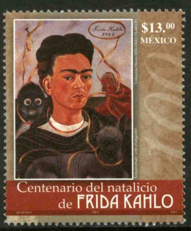 MEXICO 2540, FRIDA KAHLO, PAINTER, CENTENARY OF HER BIRTH. MINT NH. VF.