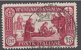 Italy #263 Used, St. Anthony's death, Issued 1931