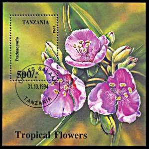 Tanzania Used S/S 1310 Tropical Flowers
