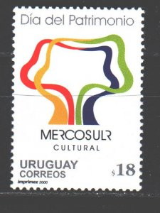 Uruguay. 2000. 2568. Cultural Heritage Day Mercosur. MNH.