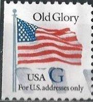 US 2883 (used) 32¢ Old Glory, black G (from booklet) (1994)