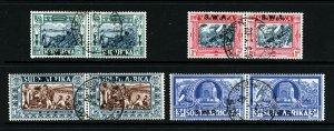 SOUTH WEST AFRICA 1938 Voortrekker Centenary Memorial Set SG 105 to SG 108 VFU