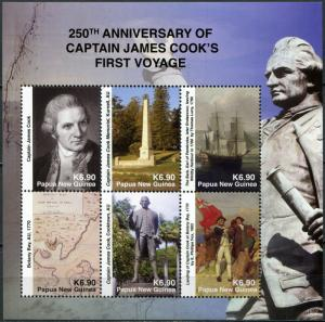 Papua New Guinea. 2018. 250th Anniv. of Capt. Cook's First Voyage (MNH OG) M/S
