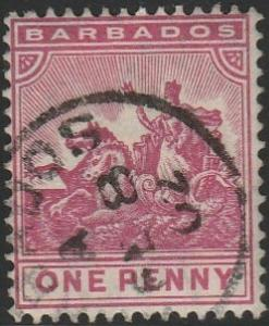 Barbados, #72 Used  From 1892-1903