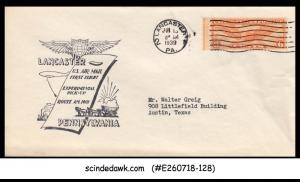 USA UNITED STATES - 1939 US AIR MAIL LANCASTER to AUSTIN - FFC