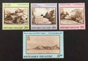 Pitcairn Islands 1987 #291-4, Art, MNH.