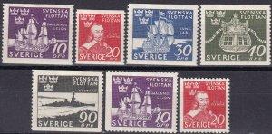 Sweden #351-7 Unused CV $11.10 (Z5248)