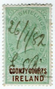 (I.B) QV Revenue : County Courts Ireland 2/6d (1878)