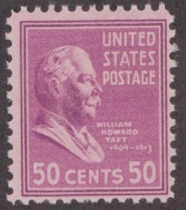 831 Wlliam Howard Taft F-VF MNH single