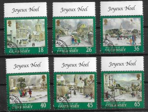 GUERNSEY 2000 used with gum set  chrismas  Yt 878 - 883