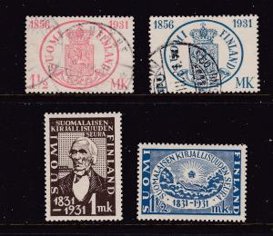 Finland x 4 from 1931 2U 2MH
