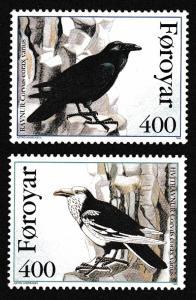 Faroe Is. Birds Ravens 2v SG#277-278 MI#283-284 SC#287-288