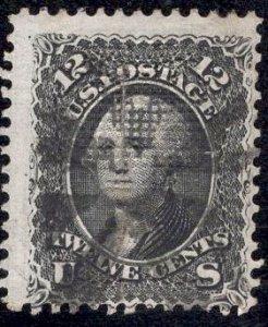 US Stamp Scott #90 E Grill Used SCV $375. Internal Tear.