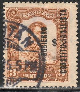 MEXICO 425, 3c REVOLUT OVPT GOBIERNO $ CONSTITUC... USED. F-VF. (8B)