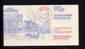 Great Britain Sc BK394 Tramway Museuml 90 p booklet NH