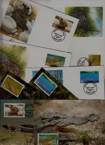 Palau 8 covers/cards WWF-94/Crocodiles