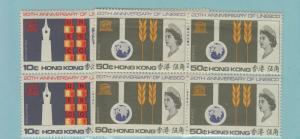 HONG KONG 231-2 UNESCO VF NH BLOCKS OF 4 OF 2 VALUES SCOTT $96 @ $29.95
