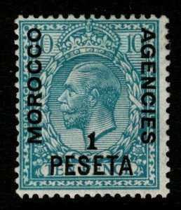 MOROCCO AGENCIES SG135 1914 1p on 10d TURQUOISE-BLUE MTD MINT