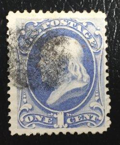 US #156 Used Benjamin Franklin 1c