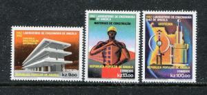Angola 656-658, MNH, Science Engineering 3v 1982.  x29183