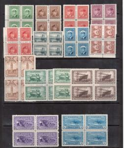 Canada #249 - #262 XF/NH Blocks