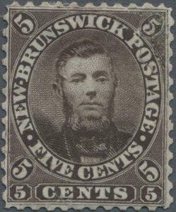 MOMEN: NEW BRUNSWICK SG #13 1860 UNISSUED MINT OG H RARE LOT #60210