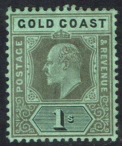 GOLD COAST 1907 KEVII 1/-