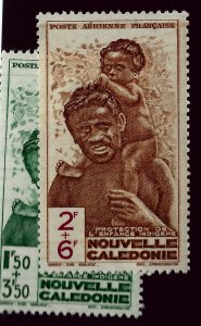 New Caledonia CB2, CB3 Mint OG VF SCV$3.50...French Colonies are Hot!