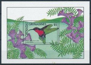[108822] Grenada Grenadines 1988 Bird vogel Purple-throated Carib Sheet MNH