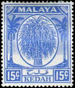 Malaya - Kedah SC# 71 SG# 83 Sheaf of Rice 15c MH