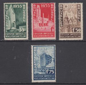 Belgium Sc 258-261 MNH. 1934 Brussels International Exhibition, cplt set