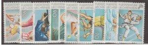 Liechtenstein Scott #1142-1150 Stamps - Mint NH Set