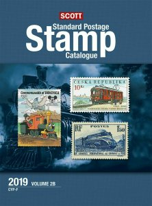 Scott Stamp Catalog 2019 Volume 2A & 2B - COUNTRIES C-F, used, good condition