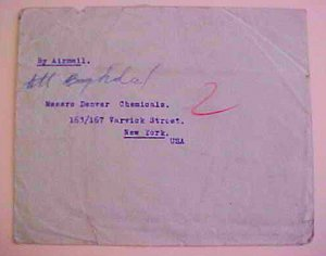 IRAN  TEHERAN 1945 B/S IRAQ TO  USA