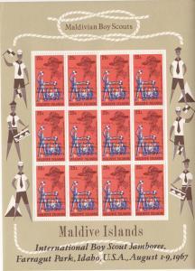 Maldive Isl. # 278-281, Scouts set of Sheets,  Mint NH